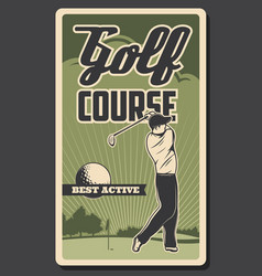 golf course professional golfer sport club vector image