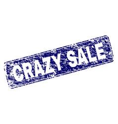 Grunge crazy sale framed rounded rectangle stamp vector