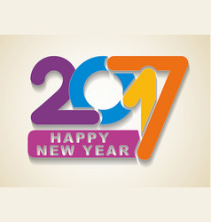 happy new year colorful holidays card with vector image