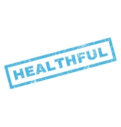 Healthful Rubber Stamp vector image