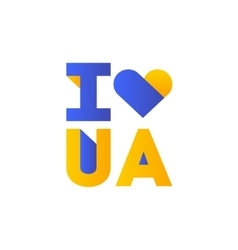 I love Ukraine concept slogan vector