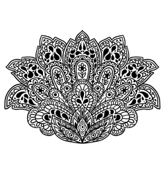 Indian ethnic ornament Hand drawn henna tattoo vector