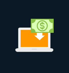internet banking icon flat style vector image
