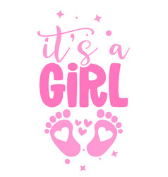 Its a girl - pink stickers that have lovely feet vector