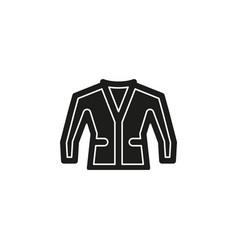 jacket isolated - clothing wear fashion vector image