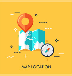 Map location flat concept vector