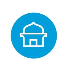 Masjid or islamic mosque logo icon vector