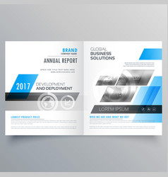 Modern company brochure bifold template layout vector