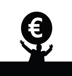 Money euro with man vector