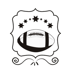Monochrome frame with football ball and stars vector
