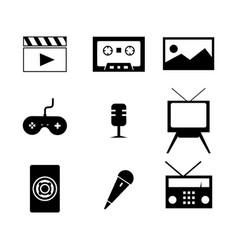 multimedia icon design image vector image