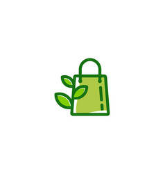 nature shopping logo icon design vector image