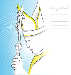 Pope background vector
