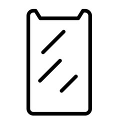 Protection screen sticker icon outline style vector