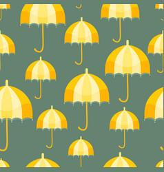 Seamless pattern with a vertical vintage umbrellas vector