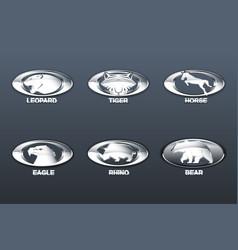 set car logo vector image