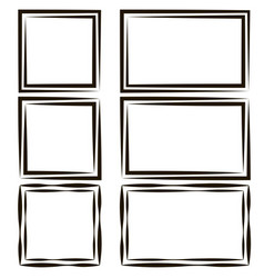 set frames for picture photos empty speech vector image