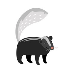 skunk cute cartoon icon vector image
