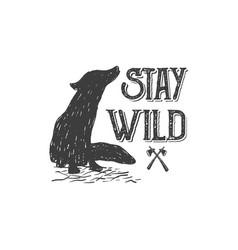Stay wild 2 vector