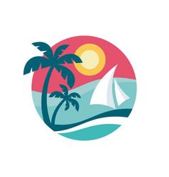 Summer holiday - concept business logo vector