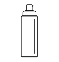 sunscreen lotion icon outline style vector image