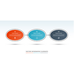 timeline infographic template of 3 options vector image