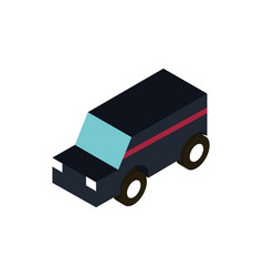 transport suv utility vehicle isometric icon vector image