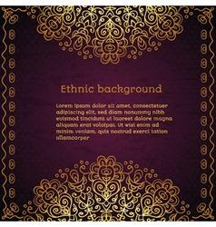 Vintage ethnic background vector