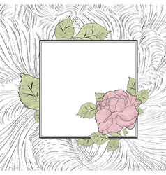 Vintage Rose Flower Frame vector image