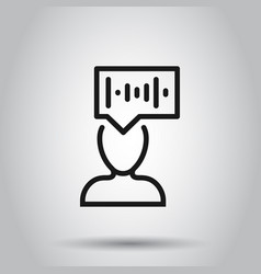 Voice recognition icon in flat style vector
