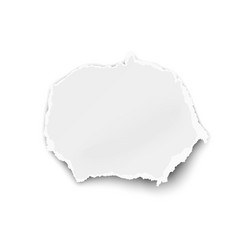white oval paper tear for memo note isolated vector image