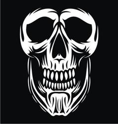 White Skull Face vector
