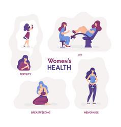 women s health fertility ivf vector image