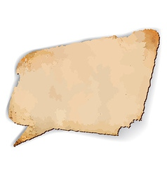 Aged speech bubble vector image vector image