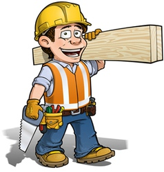 Construction Worker Carpenter vector image vector image