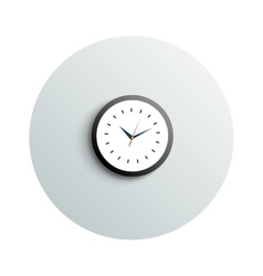 Detailed modern round office watch business vector image