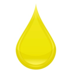 power drop oil sign yellow color vector image