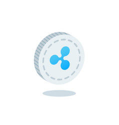 ripple cryptocurrency blockchain flat icon vector image