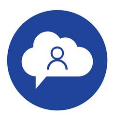 cloud user icon computing concept vector image vector image
