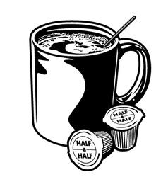 Coffee Mug and Creamer Cups vector image vector image