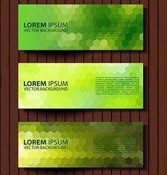 eco set of green environmental banners vector image