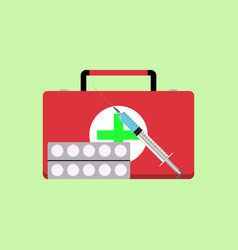 fast first medical aid vector image
