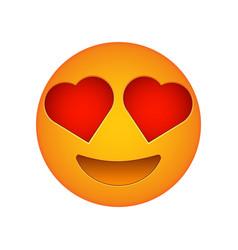 love emoji face love emotion icon vector image vector image