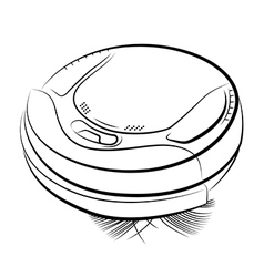 Robotic vacuum cleaner vector image