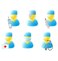 symbols of doctors vector image