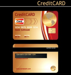 credit card vector image vector image