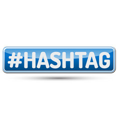 Hashtag - abstract beautiful button with text vector