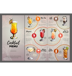 Cocktail menu design vector