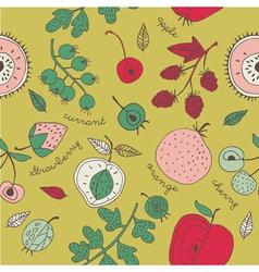 fruit kitchen wallpaper vector image vector image