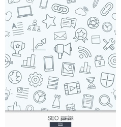 SEO wallpaper Black and white marketing seamless vector image